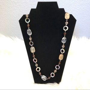 Vintage Lia Sophia Mixed Shape Necklace